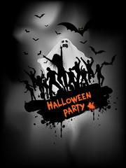 Grunge Halloween party background