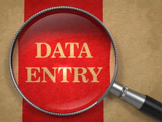 Data Entry through Magnifying Glass.