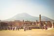 canvas print picture - Pompeji mit Vesuv