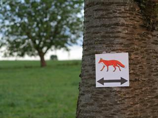 Wegweiser Fuchswanderweg Alverdissen