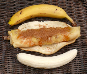 gerollte bananencrepes