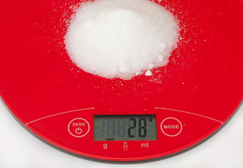 Sugar and digital scale