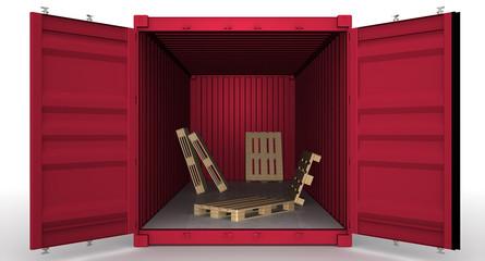 Пустой грузовой контейнер