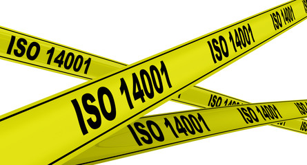 ISO 14001. Жёлтая оградительная лента