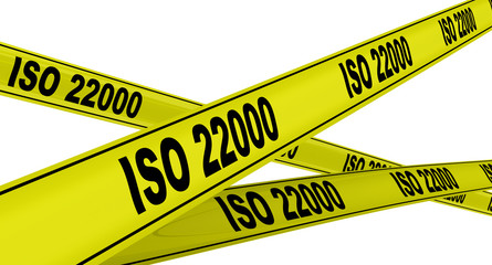 ISO 22000. Жёлтая оградительная лента