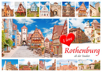 Postkarte aus Rothenburg ob der Tauber