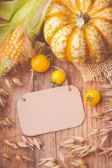 Erntedank - Herbst - Karte - Thanksgiving