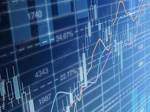 Leinwandbild Motiv Chart stockmarket