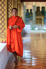 Portrait of a young Buddhist monk