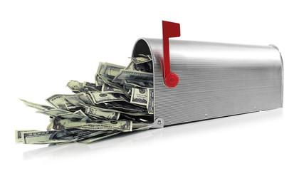Mailbox full of money