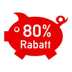 rs80 - RabattSchwein rot - 80 Prozent - g1427