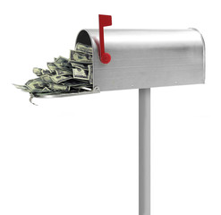 Mailbox full of money
