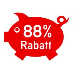 rs88 - RabattSchwein rot - 88 Prozent - g1429