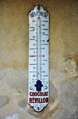 Auvers-sur-Oise, Francia, termómetro, temperatura