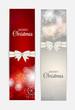Zdjęcia na płótnie, fototapety, obrazy : Christmas Snowflakes Website Header and Banner Set Background Ve