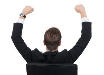 Successful Businessman Sitting On Chair