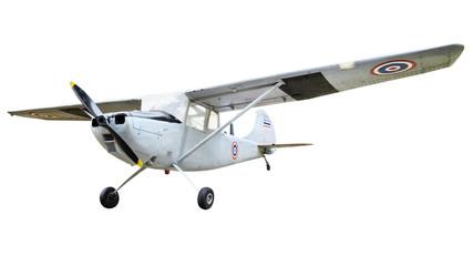 Old plane on white background
