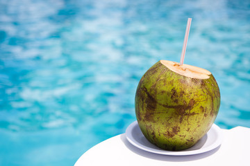 Drink Coconut  at  Poolside