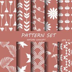 nature pattern set