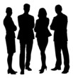 Silhouette Business People Standing With Arms Crossed - 69477328