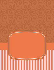 Elegant Striped Notecard with copy space