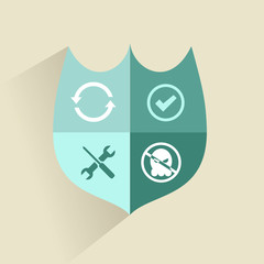 Flat design style modern vector concept of anti virus