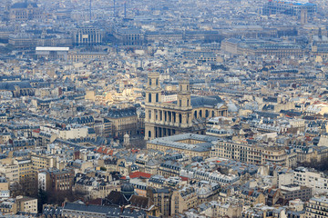 Panorama of Paris, view from top