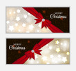 Christmas Website Banner and Card Background Vector Illustration