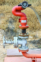 Red fire pipe