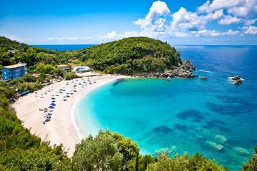Beautiful Sarakiniko beach near Parga in Greece.