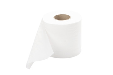 rolled toilet paper