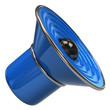 Blue speaker icon