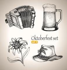 Beer Toby jug and other Oktoberfest symbols