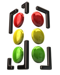 Simple traffic light icon