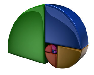 3d colorful golden ratio icon