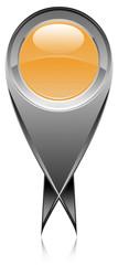 icône bouton épingle double pointes marqueur carte