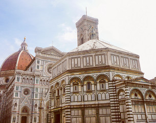 Retro look Florence Cathedral