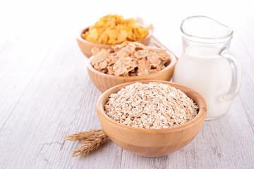 assortment of cereals