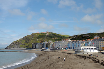 Seafront at Aberystwyth, Cardigan, Wales
