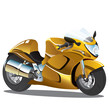 Постер, плакат: Vector illustration of golden yellow superbike