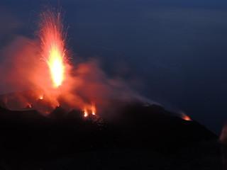 Sromboli Vulkano Eruption