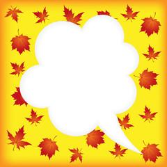 Autumn speech bubbles