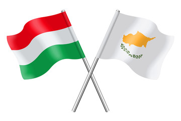 Flags: Hungary and Cyprus