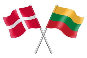 Flags: Denmark and Lithuania