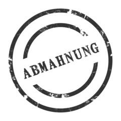 sk12 - StempelGrafik Rund - Abmahnung - g1432