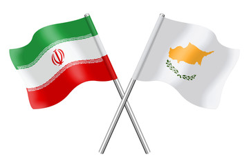 Flags: Iran and Cyprus