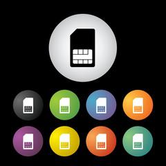 sim card  symbol set