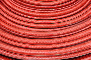 Red fire hose winder