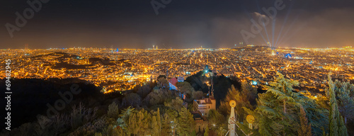 Barcelona Cityscape during sunset - 69482945