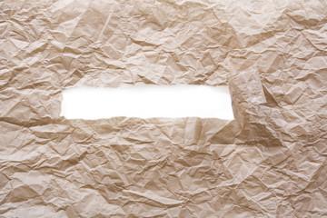 Brown paper torn
